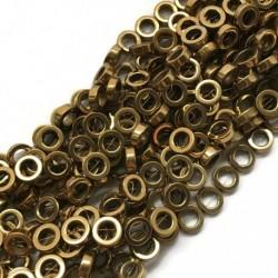 Hematyt kółko 12x4mm złoty sznurek