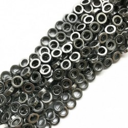 Hematyt kółko 12x4mm srebrny sznurek