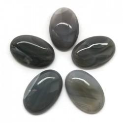 Agat szary kaboszon 29x19x6mm kamień do soutache i haftu