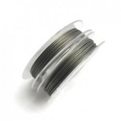Linka stalowa jubilerska 0,45 mm-10 metrów srebrna