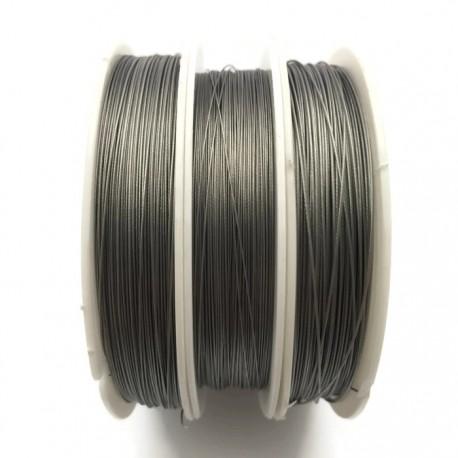 Linka stalowa jubilerska 0,38 mm-80 metrów srebrna