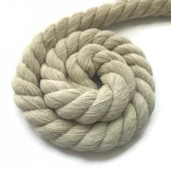 Sznurek sznur lina skręcana bawełna ecru 18mm