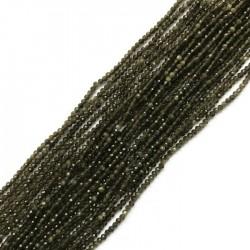 Obsydian zielony kulka 2mm sznurek