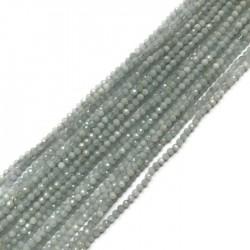 Akwamaryn kulka 2mm sznurek
