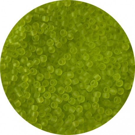 TOHO - Round 11/0 : TR-11-4F Transparent-Frosted Lime Green