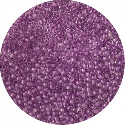 TOHO - Round 11/0 :  TR-11-935 Inside-Color Crystal/Wisteria Lined