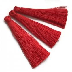 Chwosty frędzle z wiskozy 65mm czerwone