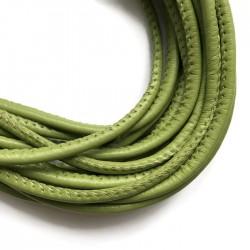 Rzemień szyty 4x6mm-zielony