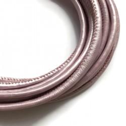 Rzemień szyty 4x6mm-pastela fiolet
