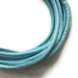 Rzemień szyty 4x6mm-błękitny