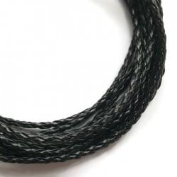Rzemień syntetyczny pleciony 3mm - czarny