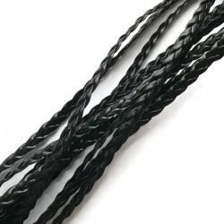 Rzemień syntetyczny płaski pleciony 5x1mm - czarny