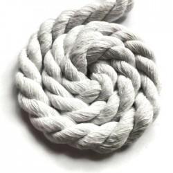 Sznurek sznur lina skręcana bawełna 10mm biały