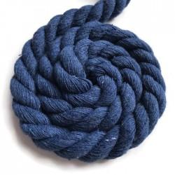 Sznurek sznur lina skręcana bawełna 10mm ciemno niebieski