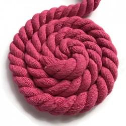 Sznurek sznur lina skręcana bawełna 10mm amarantowy