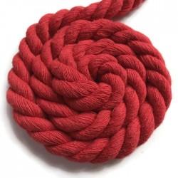 Sznurek sznur lina skręcana bawełna 10mm czerwony
