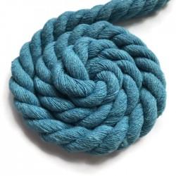 Sznurek sznur lina skręcana bawełna 10mm błękitny
