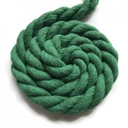Sznurek sznur lina skręcana bawełna 10mm zielony
