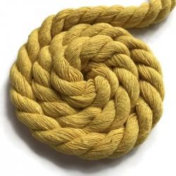 Sznurek sznur lina skręcana bawełna 10mm żółty