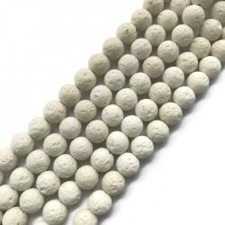 Lawa biała kulka 10mm sznurek