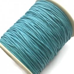 Sznurek bawełniany woskowany 1mm - błękitny