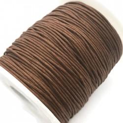 Sznurek bawełniany woskowany 1mm - brązowy