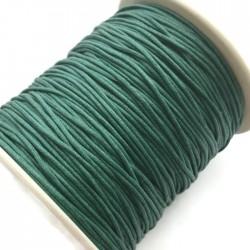Sznurek bawełniany woskowany 1mm - ciemno zielony