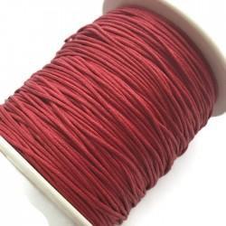 Sznurek bawełniany woskowany 1mm - czerwony