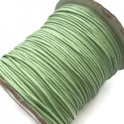 Sznurek bawełniany woskowany 1mm - miętowy