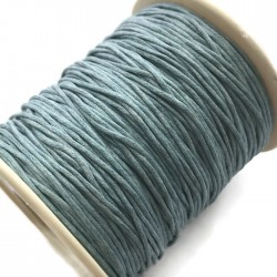 Sznurek bawełniany woskowany 1mm - niebieski