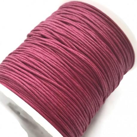 Sznurek bawełniany woskowany 1mm - różowy