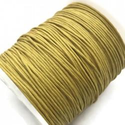 Sznurek bawełniany woskowany 1mm - żółty