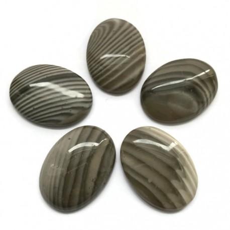 Krzemień kaboszon 30x22mm kamień do soutache i haftu