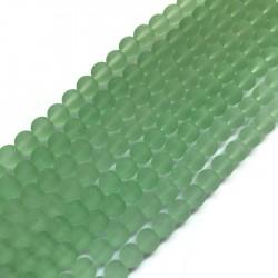 Szkło matowe kulka 10mm sznur zielony