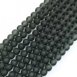 Szkło matowe kulka 10mm sznur szary
