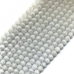 Kryształ górski mrożony kulka 6mm sznurek