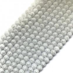 Kryształ górski mrożony kulka 8mm sznurek