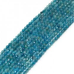 Agat kulka 4mm błękitny sznurek