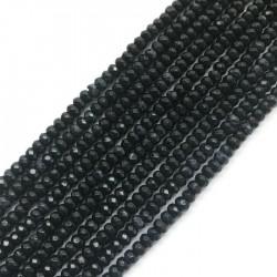 Jadeit oponka 4x3mm ciemny granat mix sznurek