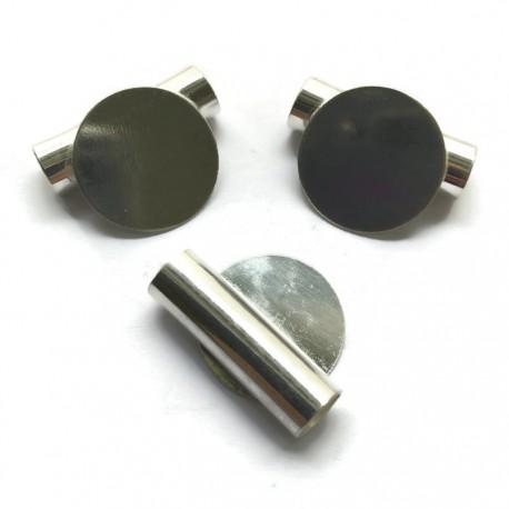 Rurka z podstawą koło krawatka 25mm kolor srebrny PL