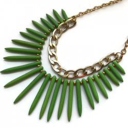 Naszyjnik kolce z howltu, zielony