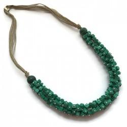 Naszyjnik z kosteczek z malachitu, zielony