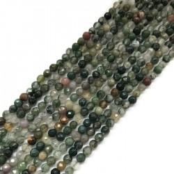 Agat kulka 4mm mix zielony sznurek
