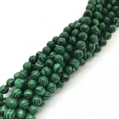 Malachit kulka 8mm zielony sznurek