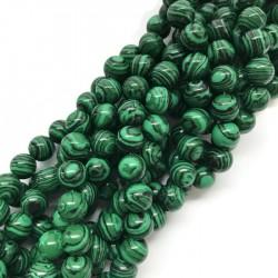Malachit kulka 10mm zielony sznurek