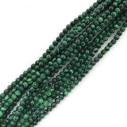Malachit kulka 4mm zielony sznurek
