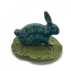 Ozdoba ceramiczna, zajączek wielkanocny turkusowy