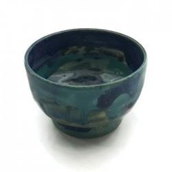 Cukiernica ceramiczna, miska, miseczka, niebieska turkusowa