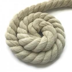 Sznurek sznur lina skręcana bawełna ecru 15mm