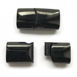 Zapięcie magnetyczne wsuwane bokiem 30x15mm stal nierdzewna czarne